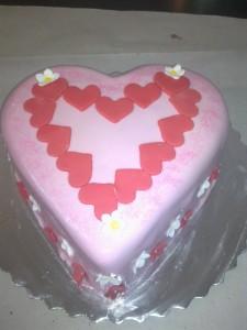 Сърце облечено в захарно тесто.